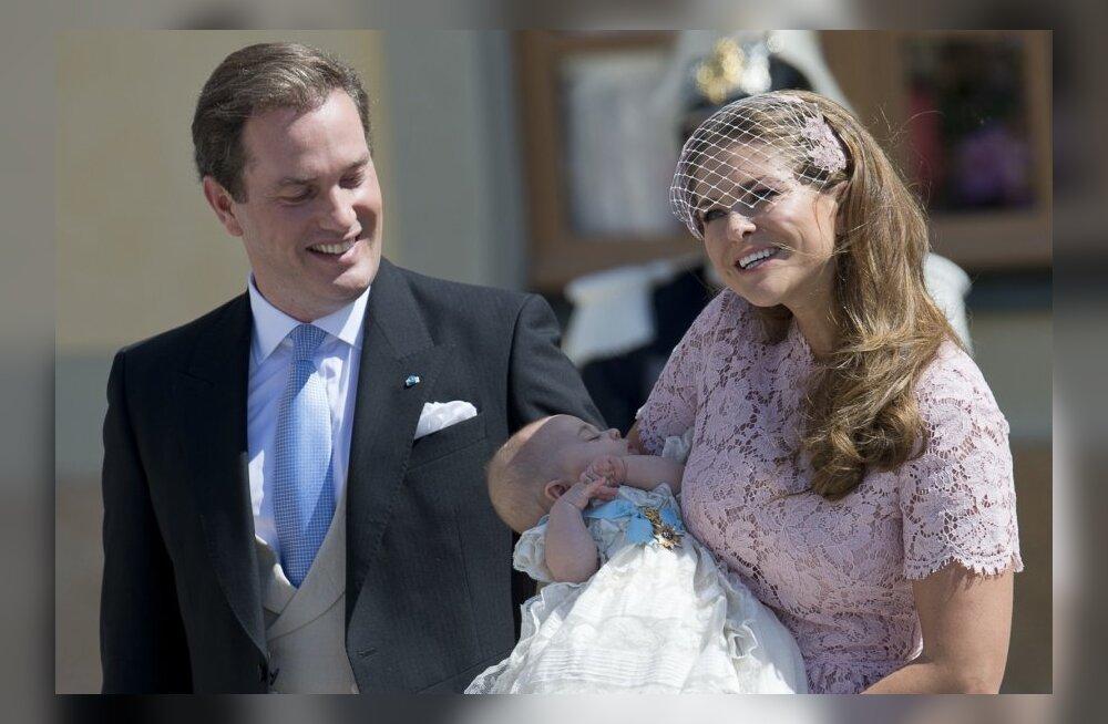 Printsess Madeleine ja Christopher O'Neill tütre Leonorega