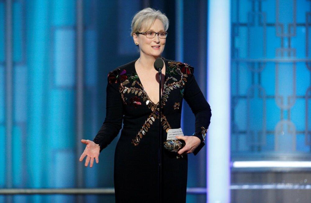 VAATA: Hollywoodi kullatükk Meryl Streep koputas Kuldgloobuste galal nii mõnelegi südametunnistusele ja kiskus näitlejate pisaraid