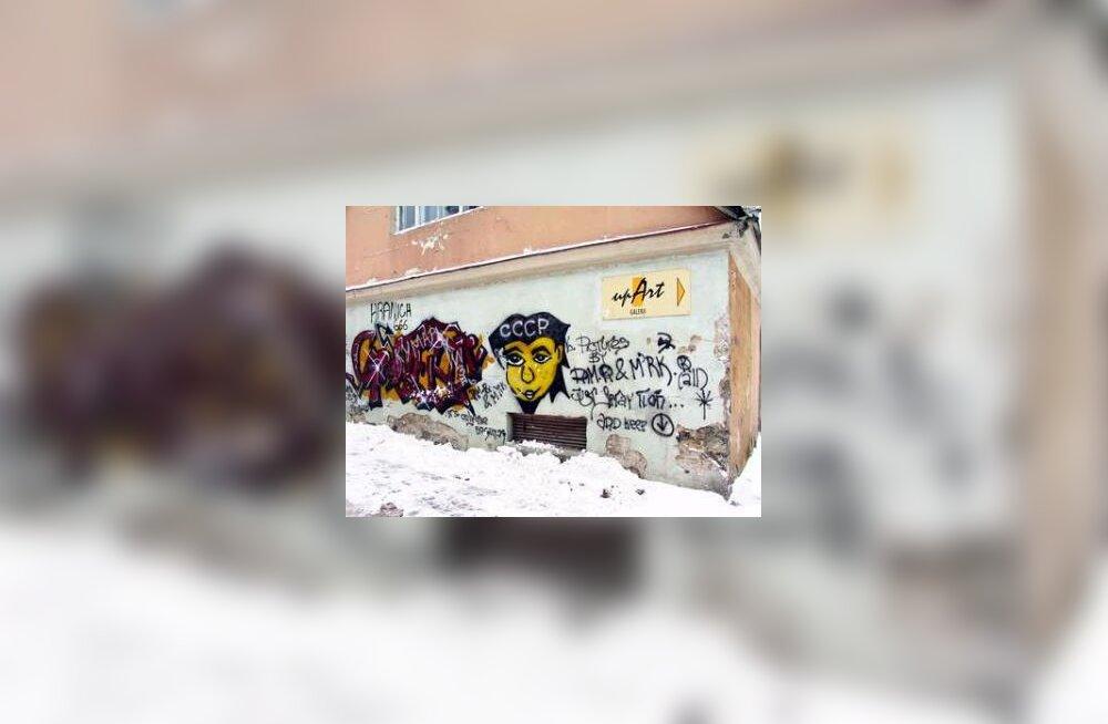 Grafiti vanalinnas Kohtu tänaval