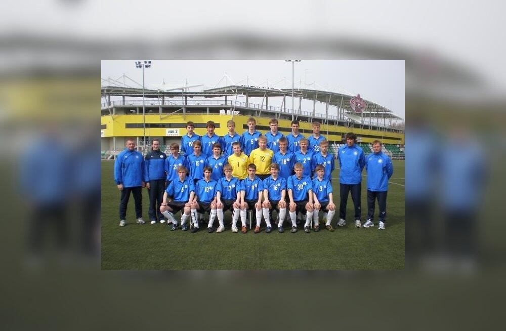 Eesti jalgpallinoored kaotasid Walesile