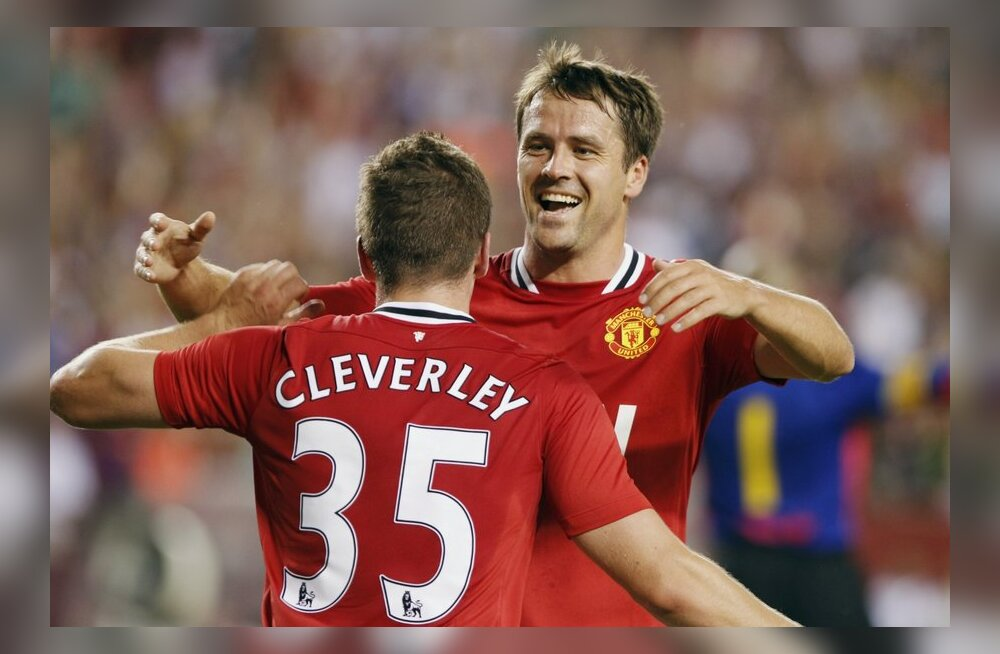 Michael Owen ja Tom Cleverley (Manchester United)