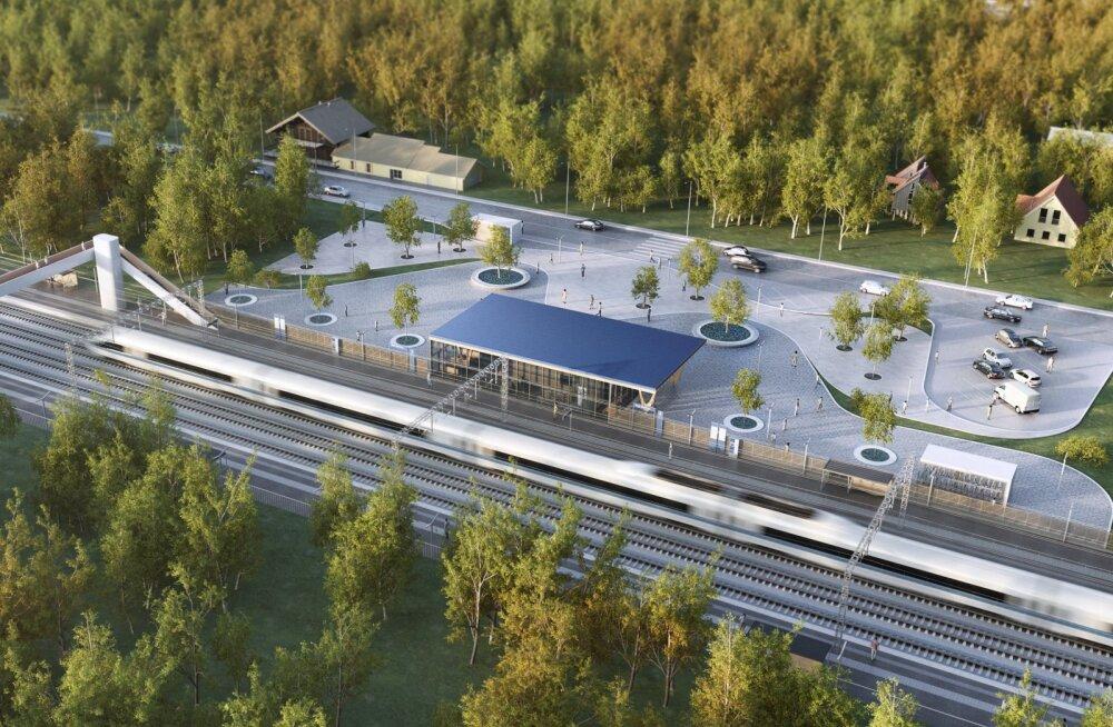 Rail Baltica Eesti trassile on planeeritud üksteist kohalikku peatust
