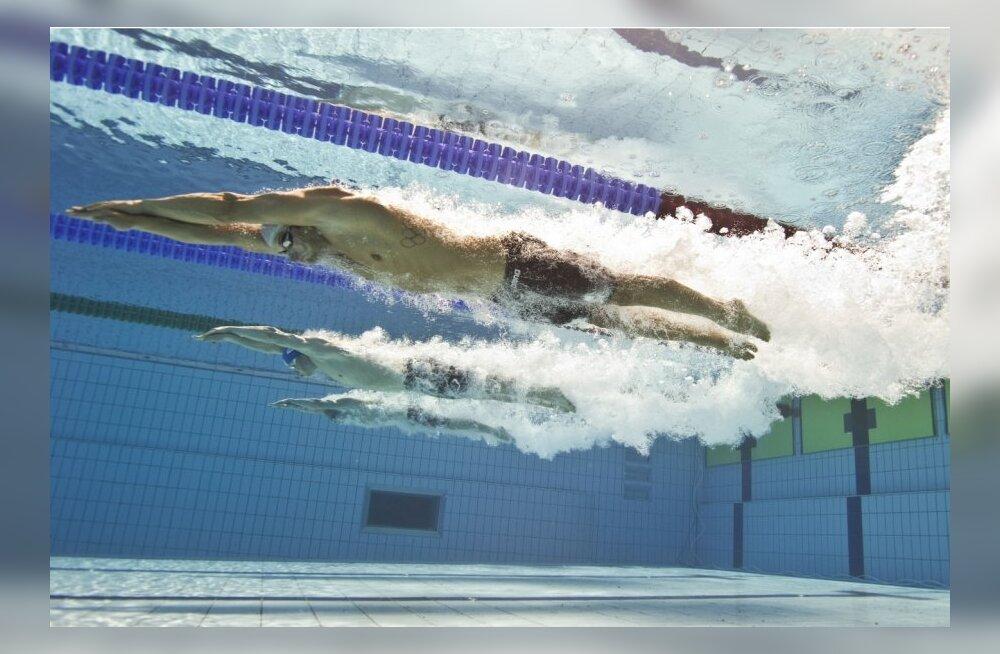 Martti Aljand, ujumine