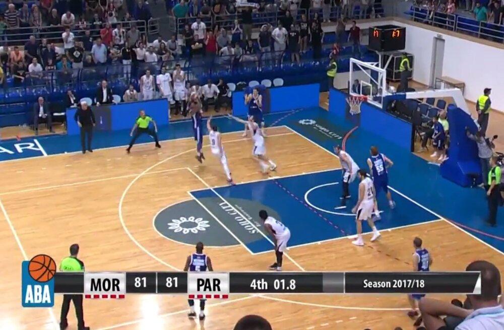 VIDEO | Vägev! Brandis Raley-Rossi lõpusekundi vise alistas Aadria liigas Belgradi Partizani