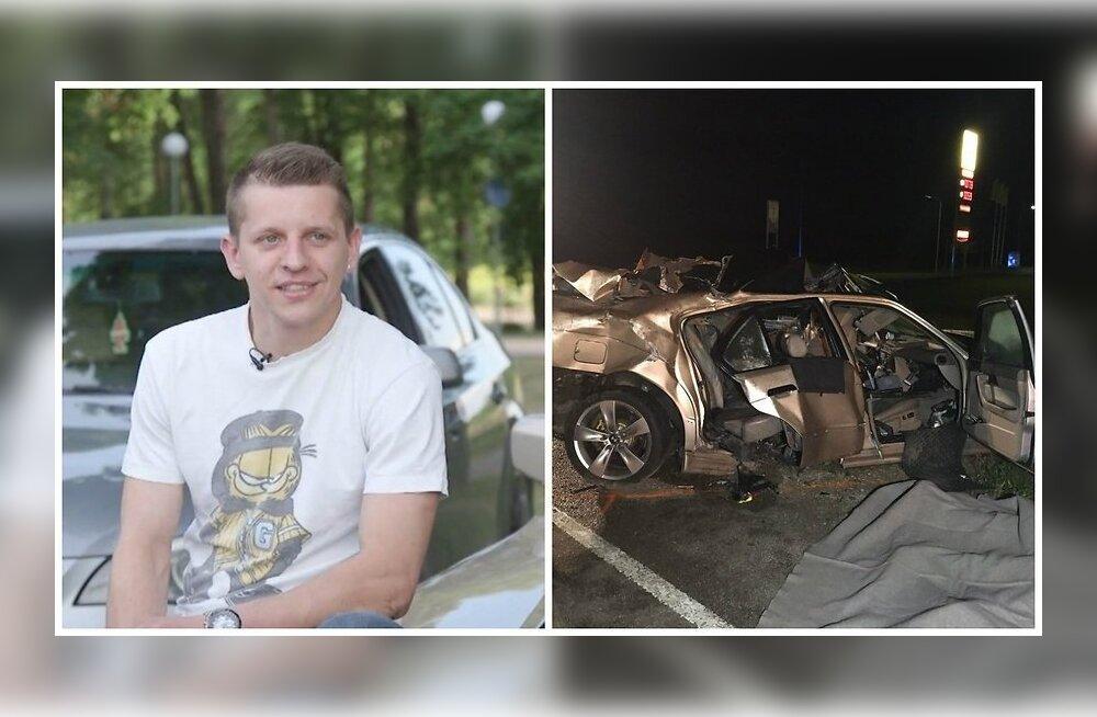 Jaan Piim ja tema BMW peale õnnetust