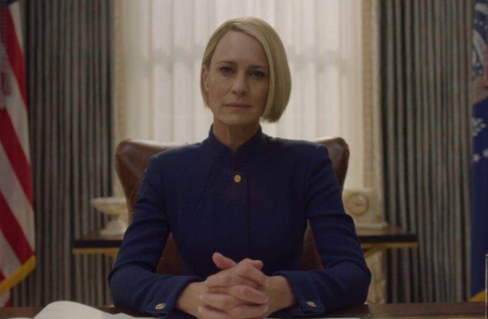 """Claire`i tõus ja Francis`e langus: tänasest on võimalik näha menuseriaali """"Kaardimaja"""" viimast hooaega"""
