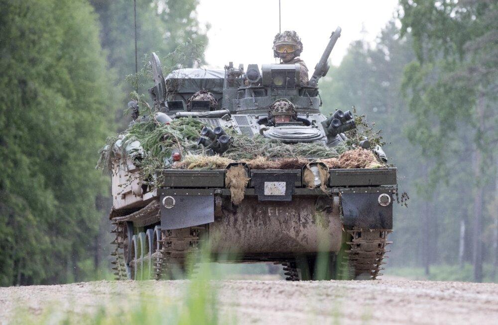 Briti armee 5. jalaväepataljoni The Rifles üksused Keskpolügoonil Saber Strike õppusel