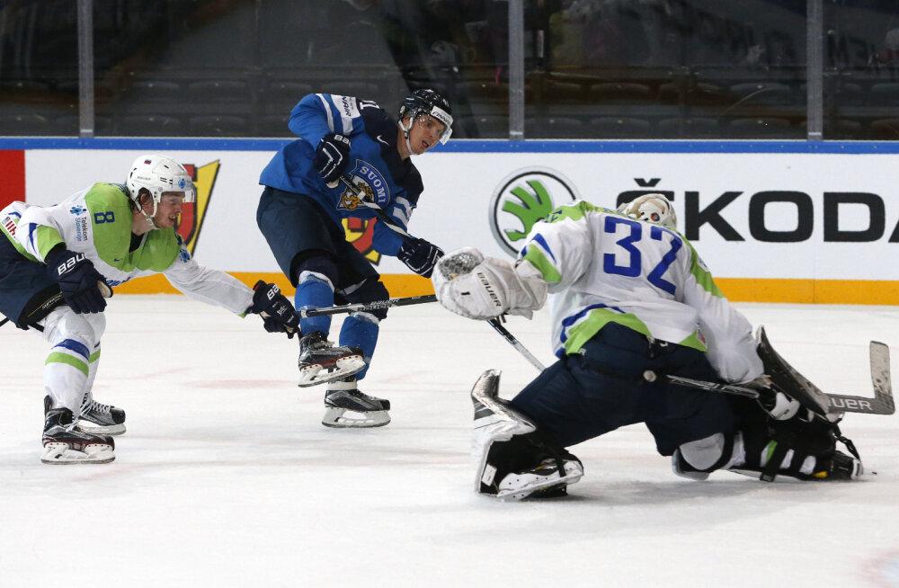 Soome versus Sloveenia jäähoki