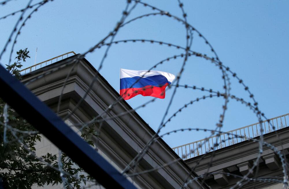 Ukraina pealinnas kärgatas plahvatus Vene saatkonna ees