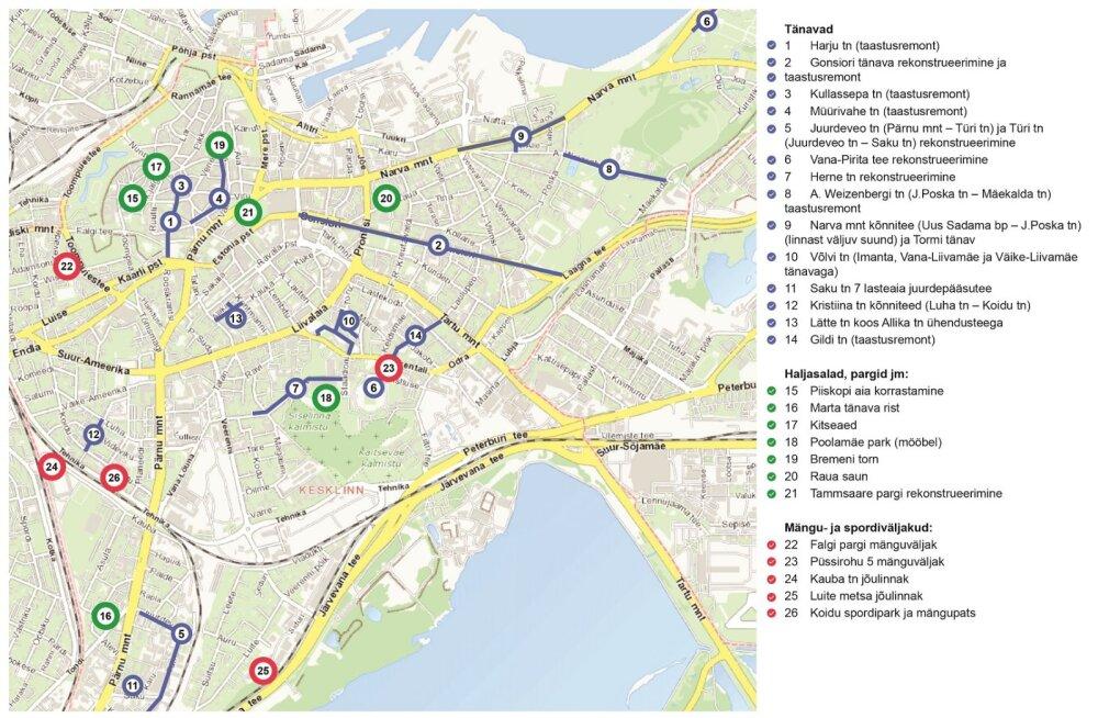 Kümmekond suurt teeremonti Tallinna kesklinnas on lõppenud