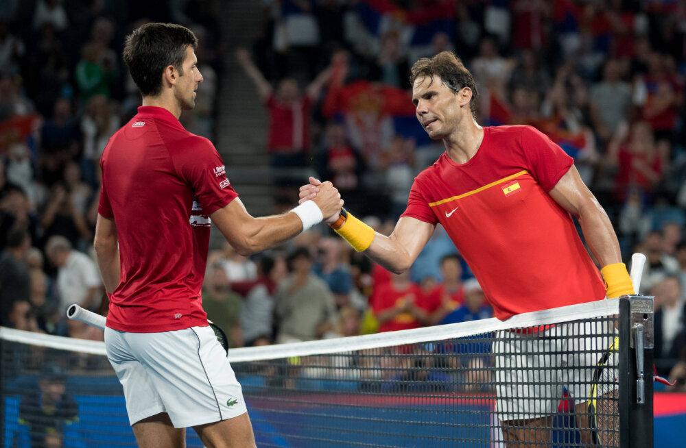 Djokovicil, Federeril ja Nadalil on ühine WhatsAppi grupp