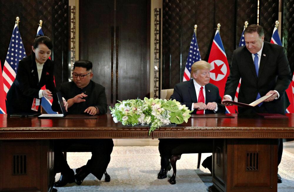 VIDEO | Kim Jong-uni õde vahetas oma venna pastaka välja sekundeid enne tähtsa lepingu allkirjastamist – kaks võimalikku põhjust