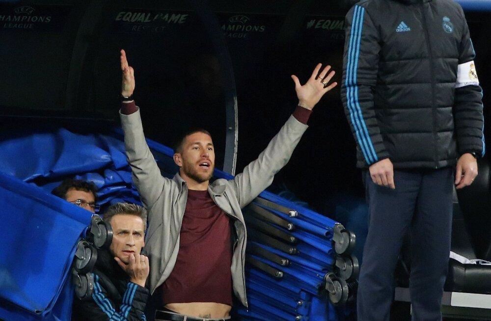 Sergio Ramos võib kolmapäevase tembu eest Meistrite liigas uue mängukeelu saada