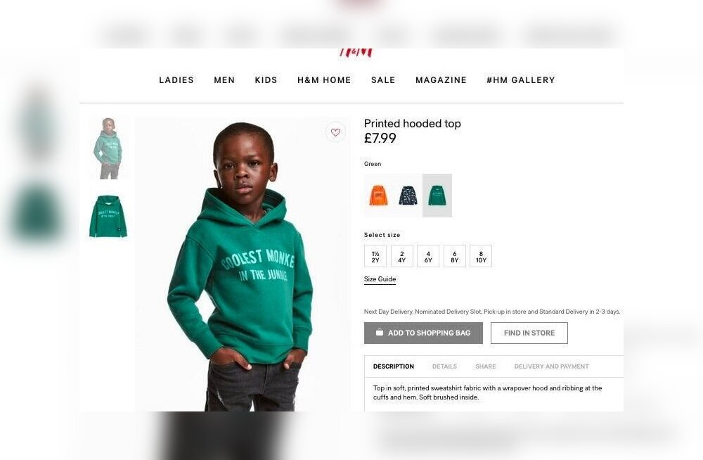 ФОТО: Бренд H&M обвинили в расизме, а хитрецы пытаются заработать на этом в сети