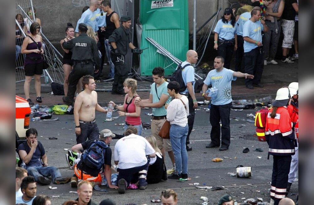 FOTOD: Saksamaal tallati teknofestivalil 19 inimest surnuks