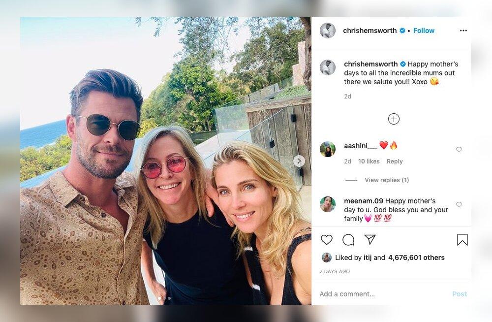 Hurmur Chris Hemsworthi 60aastane ema näeb välja nagu 30nene ja ta saavutas selle NII