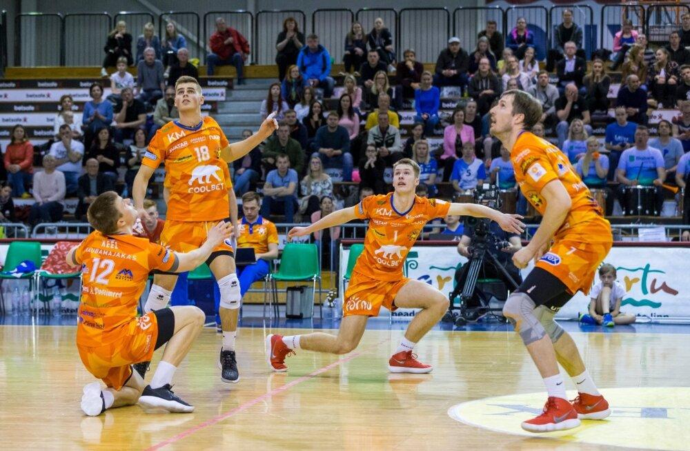 Võrkpalli poolfinaal Tartu Bigbank - Pärnu 12.04.18