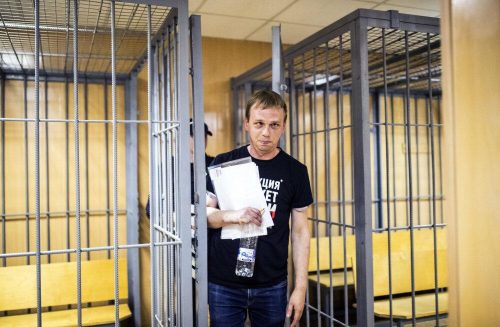 Vene ajakirjanikule Ivan Golunovile esitatud kahtlustus narkokaubitsemises võeti tagasi