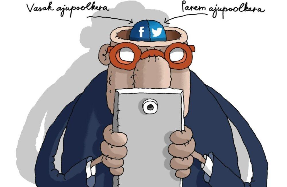 KARIKATUUR | Iseseisev mõtlemine sotsiaalmeedias