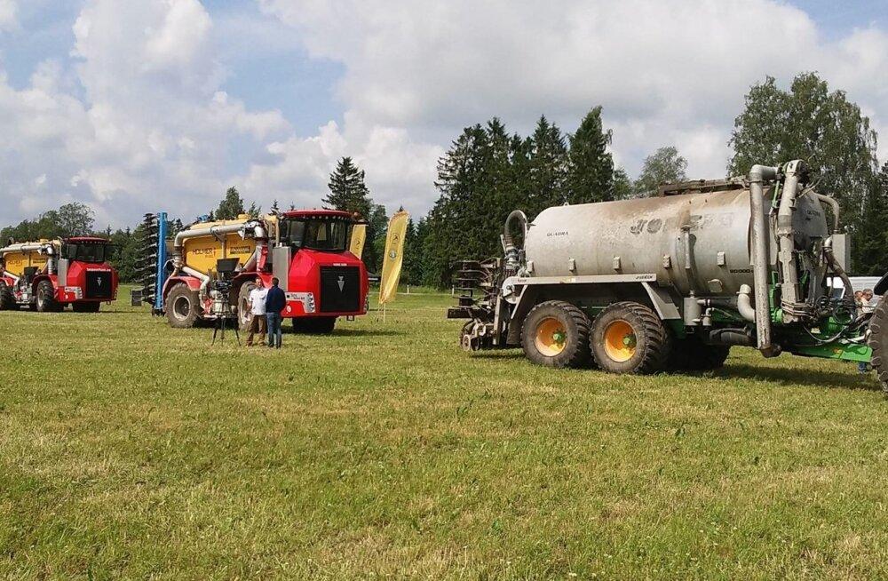 Üks atraktiivsemaid GreenAgri üritusi oli vedelsõnnikumasinate demopäev Väätsa Agros.