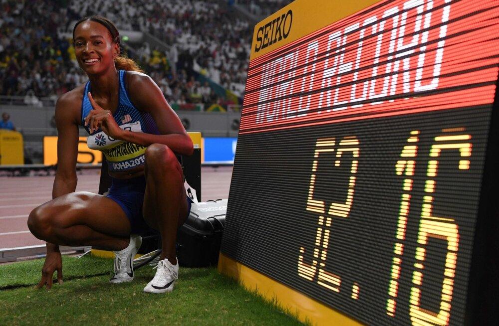 Dalilah Muhammad poseerimas maailmarekordiga.