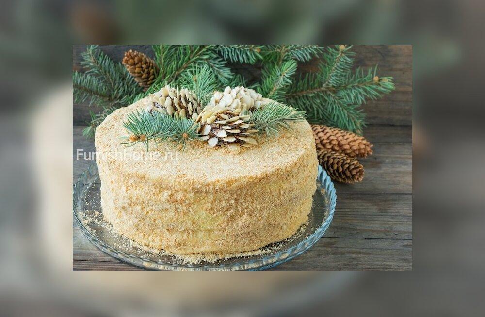 """Рецепт: торт """"Наполеон"""" с заварным кремом"""