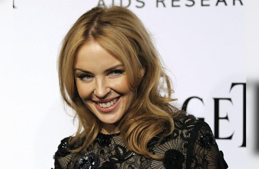 Kylie Minogue naljatas meie külma ilma üle