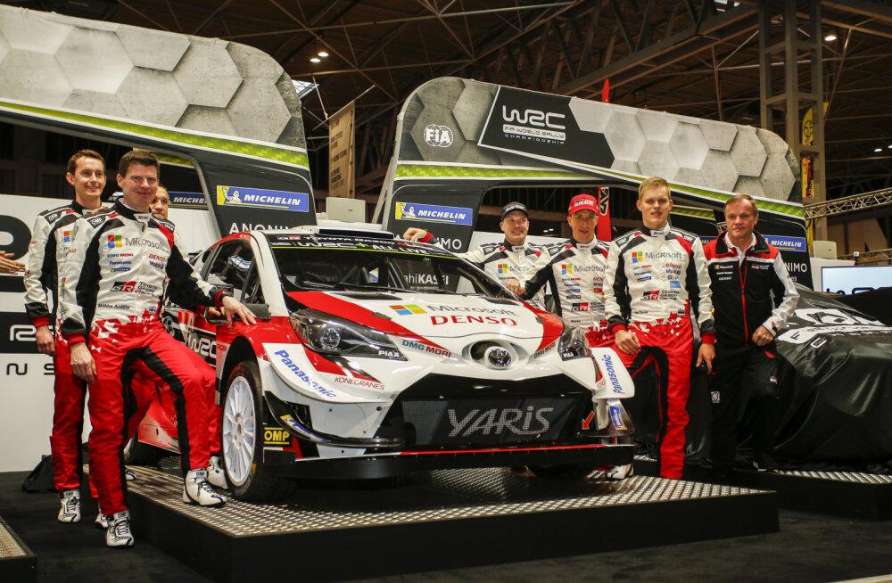 FOTO | Uhke vaatepilt: Tänak ja teised Toyotad kihutavad sel hooajal WRC-sarjas Eesti numbrimärkidega autodes