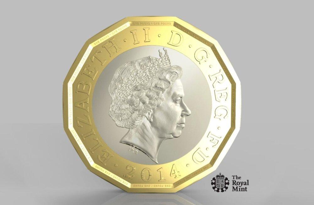 Uue 12-nurkse 1-naelase  mündi näidis.