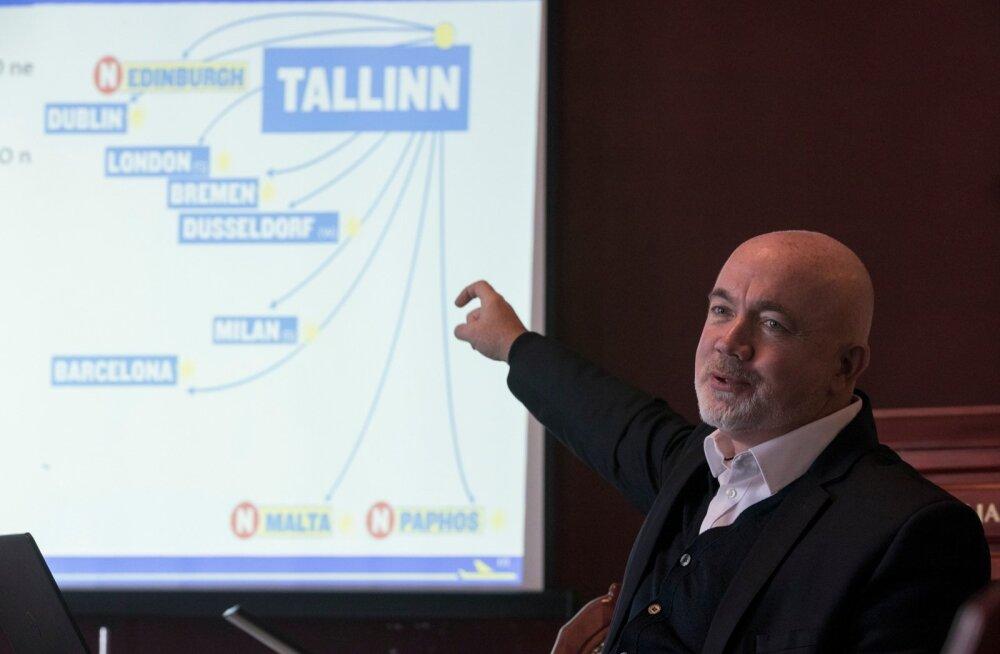 Tallinna külastanud Ryanairi kommertsjuht David O'Brien ütles eile toimunud pressikonverentsil, et 2018. aasta talvehooajal, alates oktoobrist, avab odavlennufirma Tallinnast kolm uut liini.