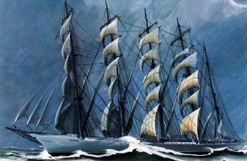 """KATKEND RAAMATUST   """"Atlandi hiiglased ja teised suurpurjekad"""". Lähemalt viiemastilistest purjekatest"""