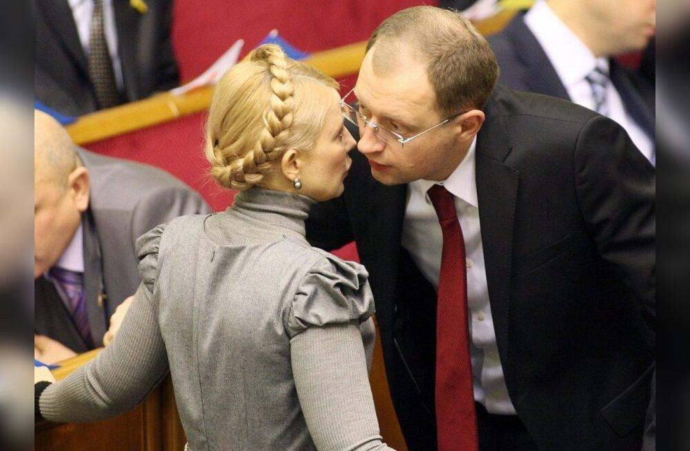 Julija Tõmošenko ja Arseni Jatsenjuk