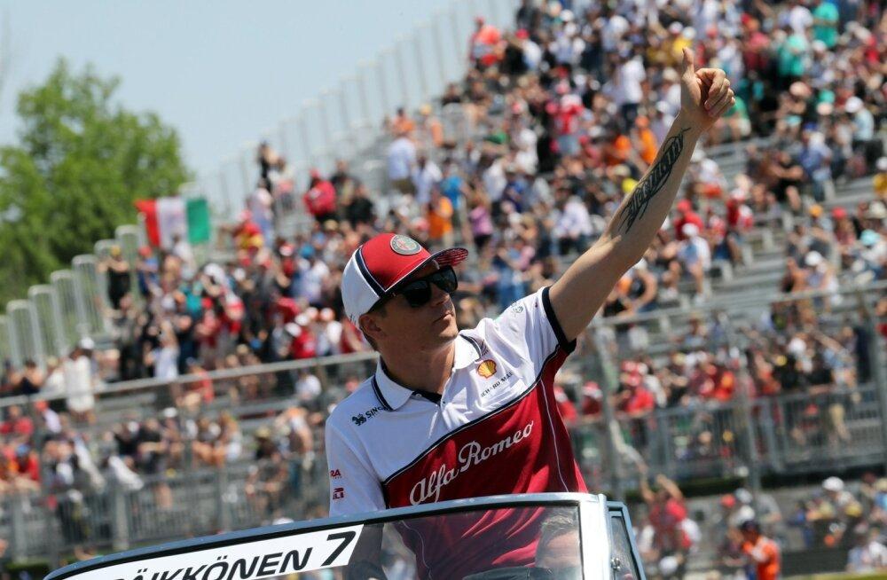 Kimi Räikkönen püüab ikka ja alati tähelepanu.