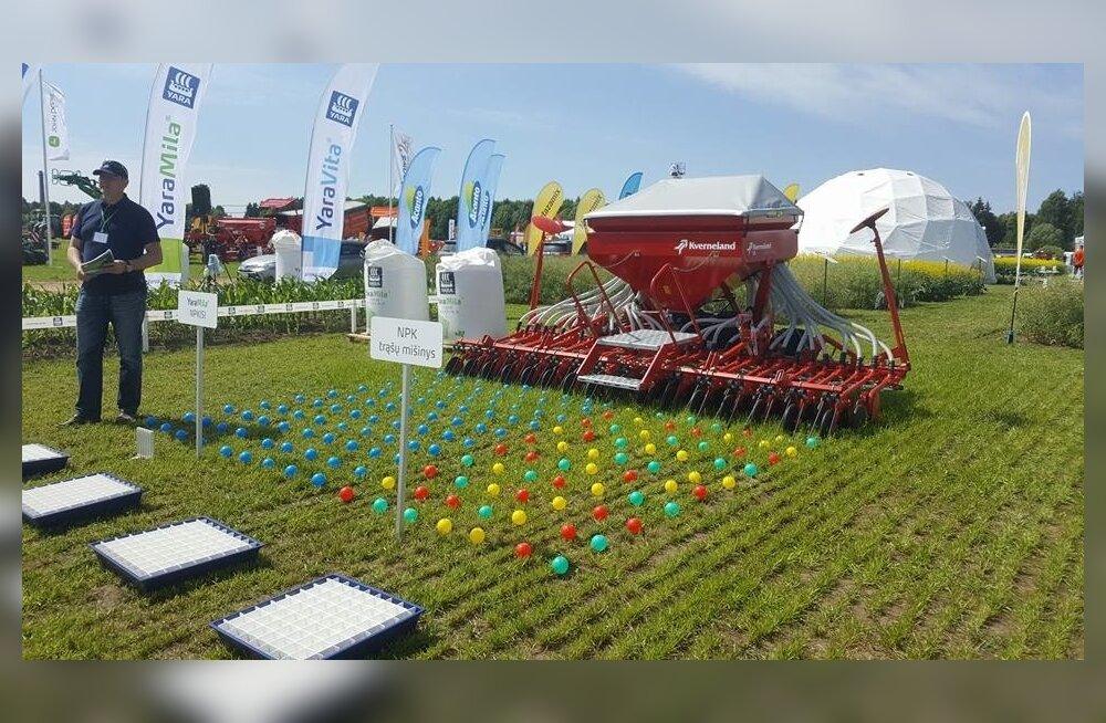 Suur osa Eesti viljakasvatajaid käis Leedus põllupäevadel.