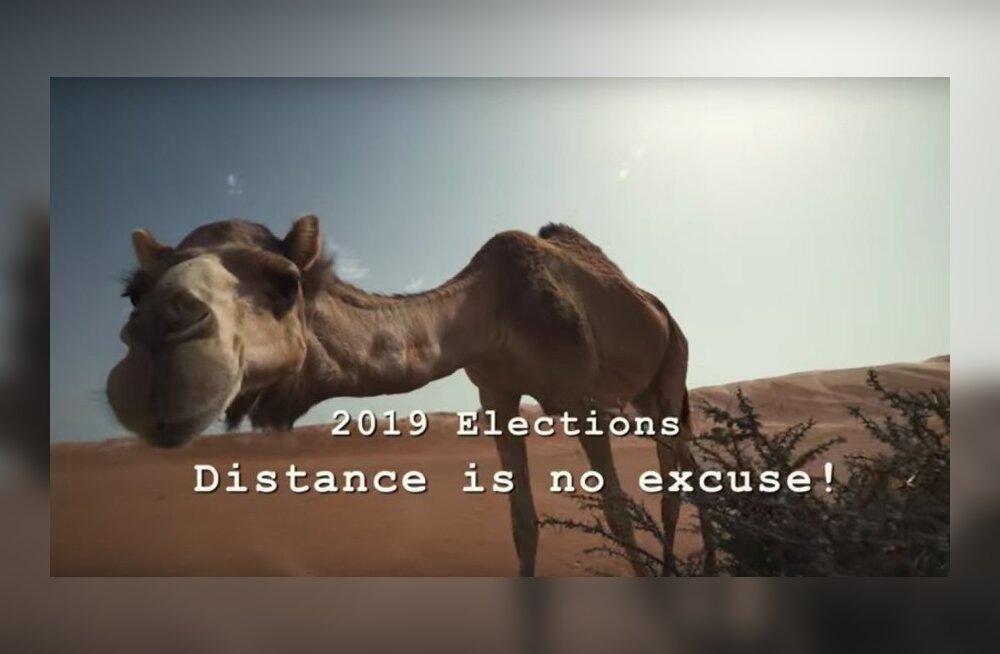 ВИДЕО: Расстояние — это не препятствие! Смотрите, как граждане Эстонии голосуют в пустыне Омана