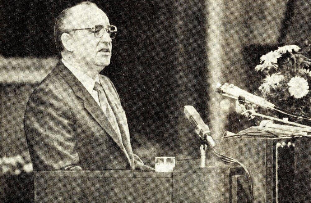 Mihhail Gorbatsov Eestis 1987