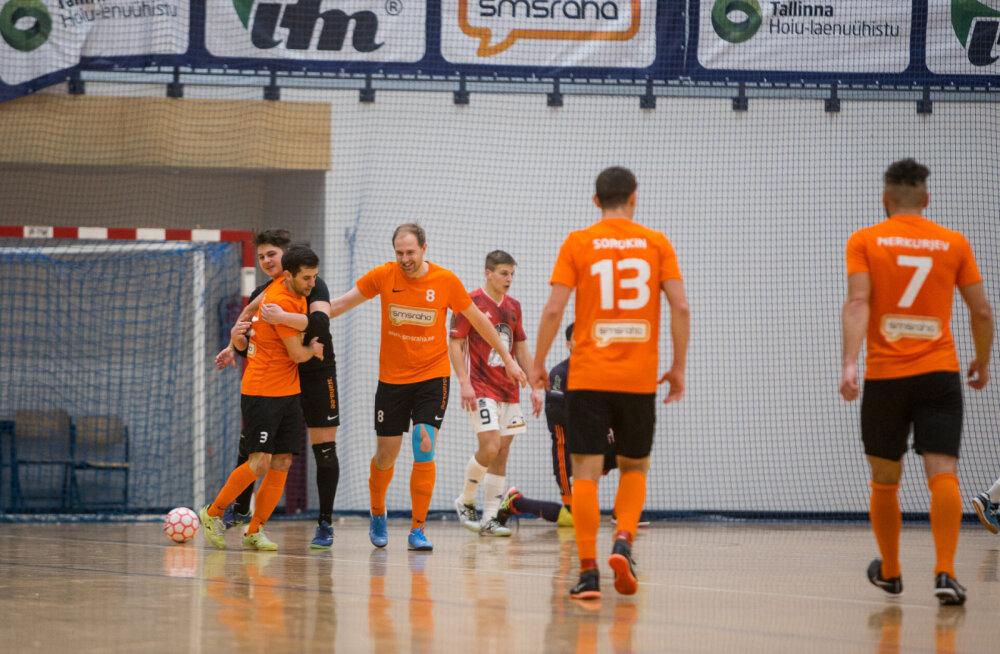 Eesti saalijalgpalli hooaeg jäi katki ja meister kuulutati välja