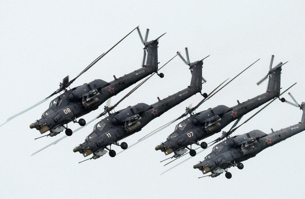 Vene armee rajas Eesti rannikust 55 kilomeetri kaugusele helikopteribaasi