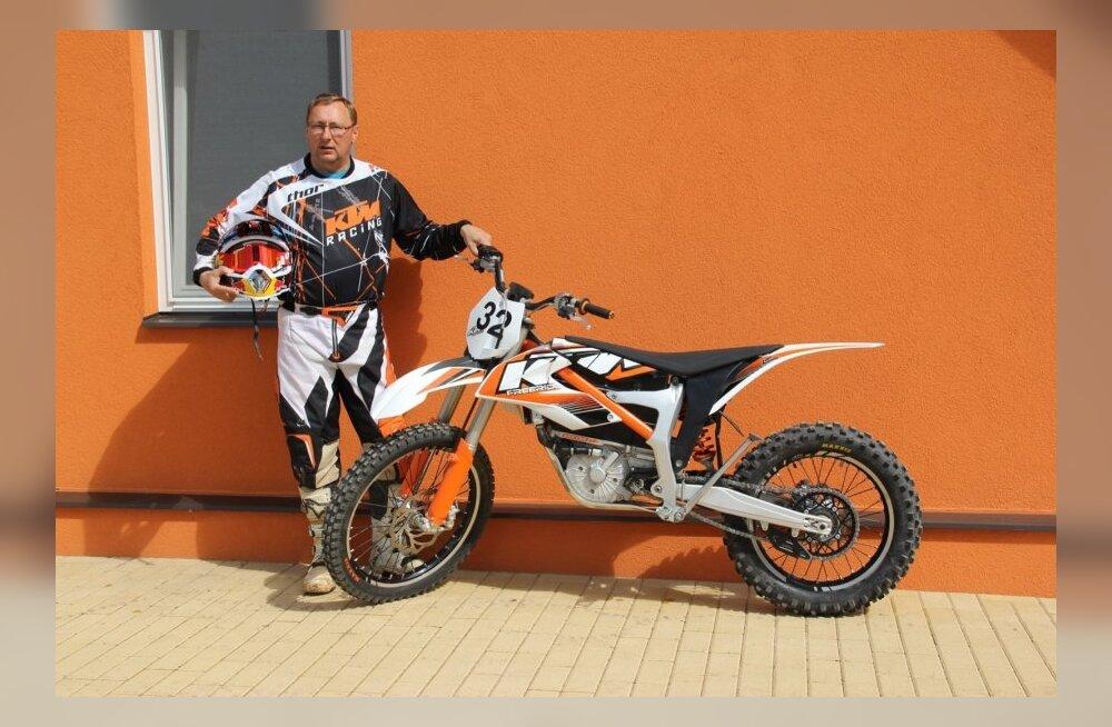 Aivar Moks ja KTM Freeride E elektritsikkel