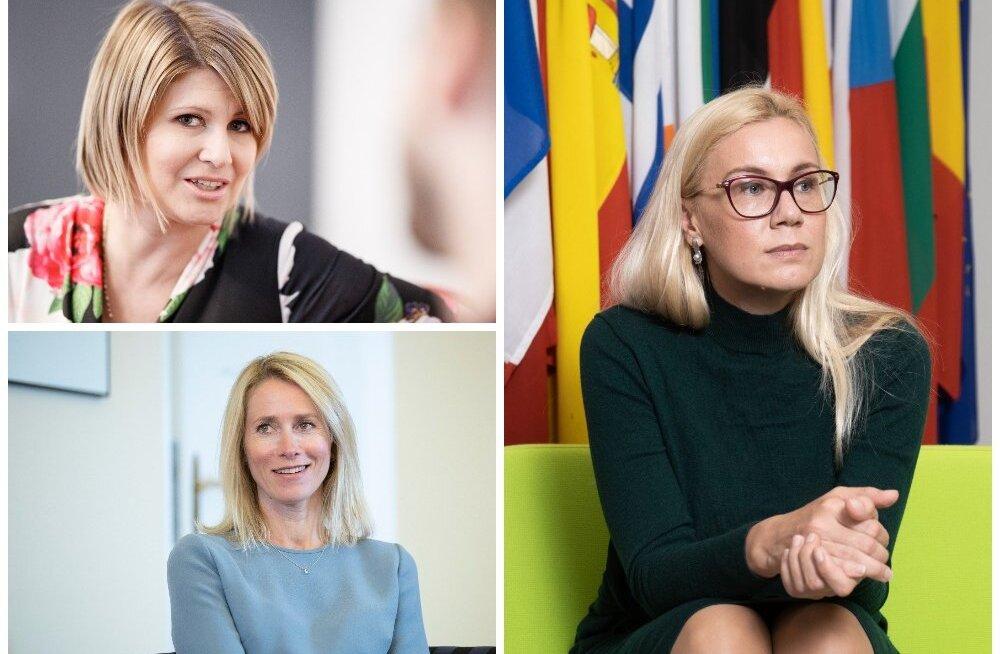 Eesti poliitikud. Viktoria Ladõnskaja-Kubits, Kaja Kallas, Kadri Simson.