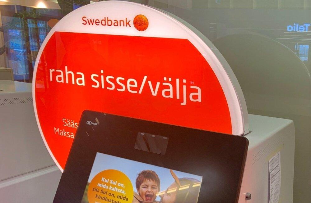 Swedbank, sularahaautomaat, pangaautomaat, ekraan