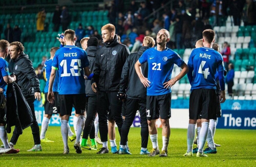 Eesti jalgpallurid pärast Saksamaaga mängu