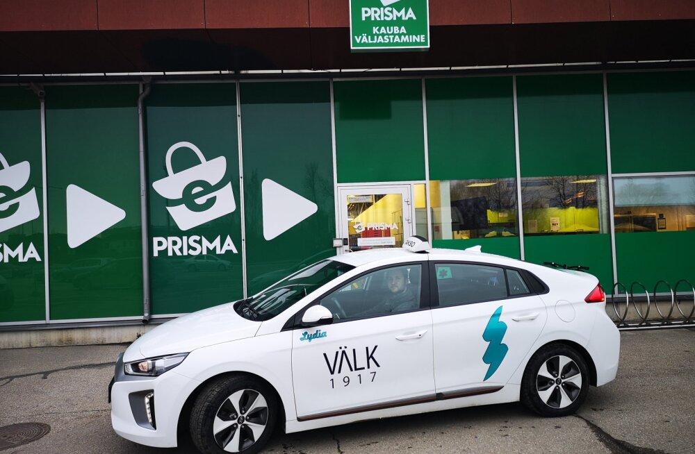 Prisma hakkab Tartus koostöös Välk taksoga e-poest tellitud kaupu koju kätte viima