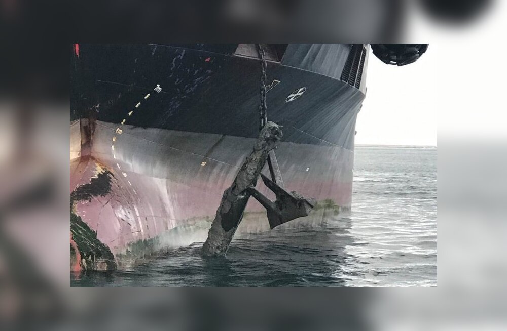 Kolmteist ja reede: tanker tõmbas ankruga merepõhjast torpeedo üles, laevapere evakueeriti