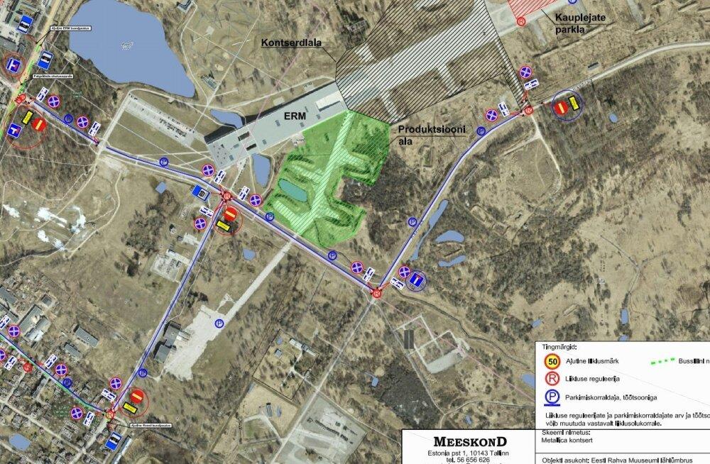 СХЕМА | Концерт Metallica: как добраться до места и где припарковать машину