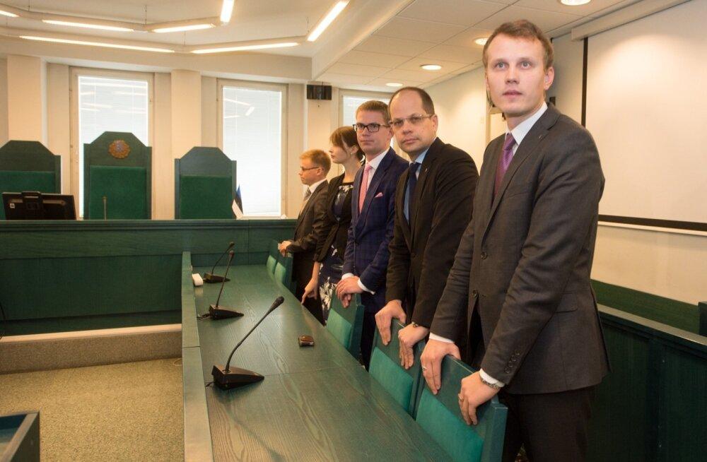Riigikogu liikmed Priit Toobal ja Lauri Laasi eelmise aasta sügisel maakohtus