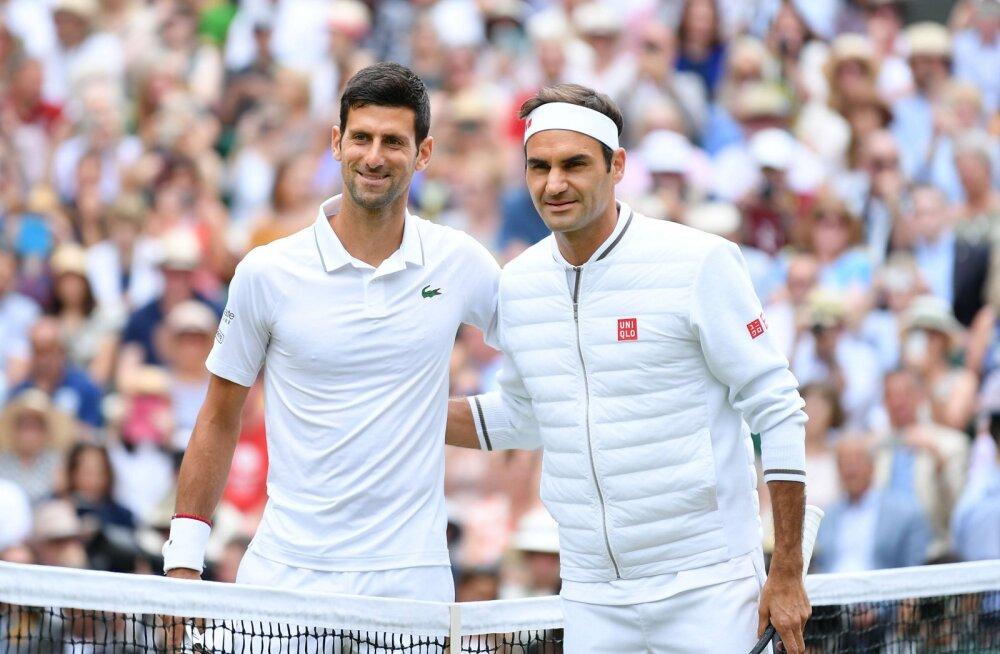 Federer ja Djokovic loositi ühte alagruppi, Medvedevil võimalus võtta magus revanš