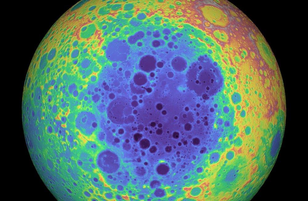 Teadlasi hämmeldab Kuu lõunapooluselt avastatud massianomaalia
