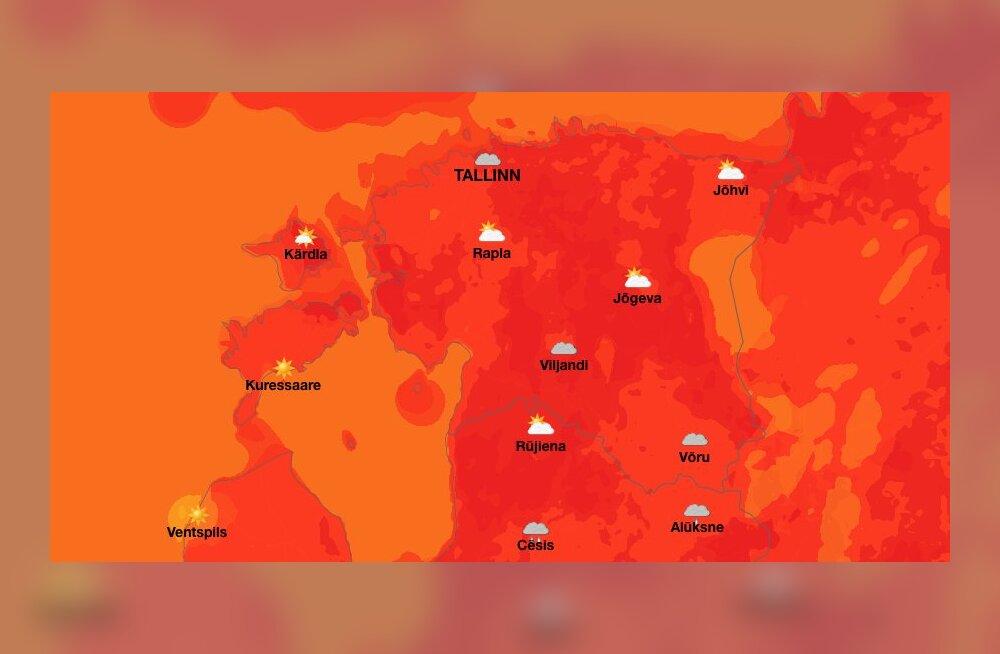 Ülevaade: parimad ilmaennustuse-äpid