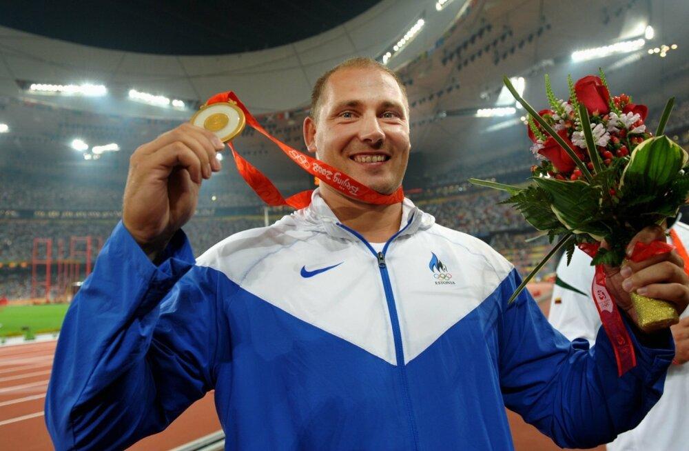 Gerd Kanter Pekingi olümpiavõitjana